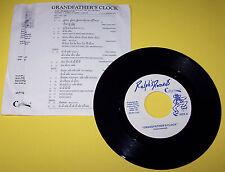 "Nice! Vintage RARE! ""Grandfather's Clock"" Ralph's Records RR 891103 45 RPM Vinyl"