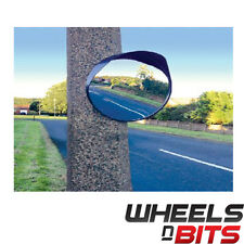 "NEW Convex Mirror 16"" 40cm Blind Spot Wide Angle Traffic Driveway Workshop Black"