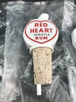 1 Porcelain Red Heart Rum Pourer