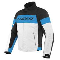 Dainese Saetta D-Dry Jacket Black Blue White Waterproof Motorcycle Jacket New