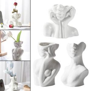 Girl Form Head Face Vase Flower Vase Cute Planter Nordic Accent Dorm Decor