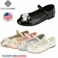 DREAM PAIRS Kids Girls Flat Shoes Toddler Shoes Wedding Princess Dress Shoes