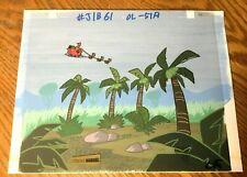 Johnny Bravo 1995 Key Master Production Background Cel Santa Claus Christmas art