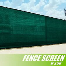6' x 50' Fence Privacy Screen Cover WIndscreen Shade Fabric Mesh Fabric Green
