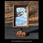 AAFA 19th Century Primitive Grain Painted Table Dresser Standing Mirror