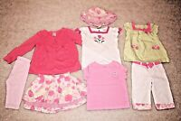 lot of girl clothes Gymboree skirt t-shirt pants leggings hat 3T