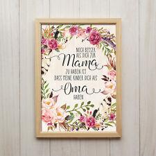 Dich Als Oma Haben Kunstdruck A4 Mama Muttertag Spruch Blumen Boho Shabby Chic