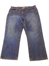 Liz & Co Jeans Womens Size 14 Blue Capri Jeans Fair Condition