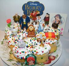Disney Beauty and the Beast Cake Toppers Set of 14 with Figures, Ring and Tattoo