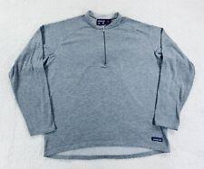Vtg Patagonia Regulator Sweater Base Layer 1/4 Zip Pullover Shirt Mens Size L/XL