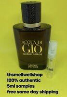 ^^5ML SAMPLE^^ Acqua Di Gio ABSOLU INSTINCT By Giorgio Armani Cologne Atomizer