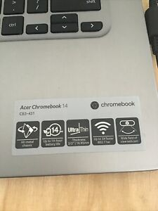 "Acer Chromebook 14 CB3-431 14"" (32GB, Intel Celeron N, 1.6GHz, 4GB) Ultrabook -"