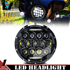 "7"" LED Projector BL Headlight For Harley Street Glide Softail FLHX FLD"