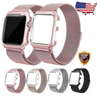 For Apple Watch Series 4/3/2/1 Milanese Stainless Steel Band Strap 38&42&40&44mm