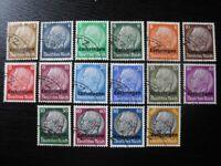 LOTHRINGEN THIRD REICH WWII OCCUPATION Mi. #1-16 used stamp set! CV $36.00