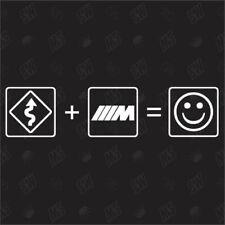 Kurven + BMW M Power = Smile - Fun Sticker , Auto Fun Aufkleber