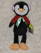 ANIMAL ADVENTURE STUFFED PLUSH PENGUIN EARMUFFS CAPE RED GREEN BOW 2017 DOLL TOY