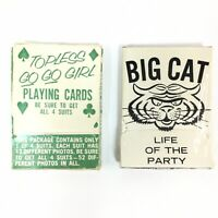 Vintage NOVELTONE Sexploitation Adult Clubs Playing Cards Topless Go Go Girl Cat