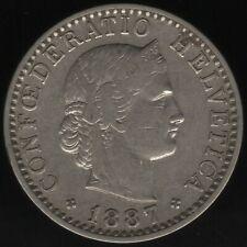 More details for 1887 switzerland 20 rappen coin   european coins   pennies2pounds