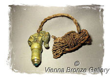 A really nice old VIENNA BRONZE Bell Push with Cabochon featuring an Elephant