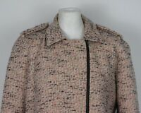 HOBBS Ladies Asymmetrical Zip Vibrant Multi Coloured COAT / JACKET - Size UK 14