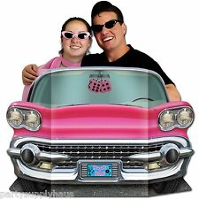 50s Sock Hop PINK CADILLAC CONVERTIBLE PHOTO PROP Party Decoration GREASE THEME