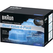 4 Count Braun Clean Renew Cartridge Refills Series 3 5 7 Genuine Shaver Cleaner