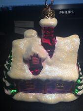 Christopher Radko Christmas Cottage Village Ornament Glass Hand Blown Poland