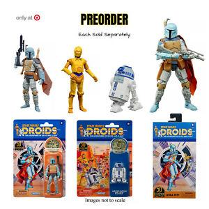 Star Wars Droids Black Series Boba Fett TVC C3-PO R2-D2 Target Exclusive PRESALE