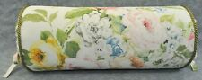 Corded Bolster Neckroll Pillow made w Ralph Lauren Home Lake White Floral Fabric
