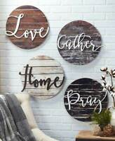 Home Wall Decor Wood Art Sentiment Plaques Rustic Signs Love Gather Home or Pray