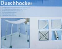 Duschhocker, höhenverstellbar, rechteckig, ohne Rückenlehne Duschsitz Duschstuhl