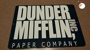 DUNDER MIFFLIN / SIGN, SIGNAGE,  the office,  TV & MOVIE PROPS,
