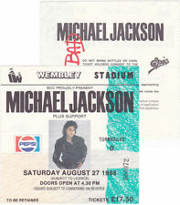 Michael Jackson Ticket Billet BAD TOUR Stub Wembley Stadium England UK 1988