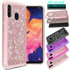 For Samsung Galaxy A10e/A20/A11/A21/A51/A71 5G Case Armor Glitter Bling Cover