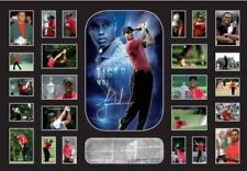 New Tiger Woods Signed Limited Edition Oversized Memorabilia Framed