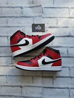 New Deadstock Nike Air Jordan 1 Mid Chicago Black Toe 554724-069 UK 7 US 8 EU 41