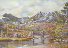 Snowdon, Highest Mountain in Wales, Great Britain -- United Kingdom Art Postcard