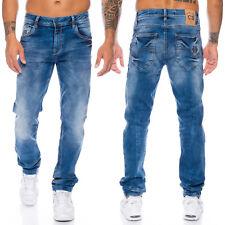 Cipo & Baxx Jeans Herren Regular Slim Fit Hose Dicke Nähte Freizeit Mens Pants
