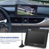 """Tragbar 7"""" HD 1080P LED Mini TV DVB-T/T2 Digital Analog Fernseher USB FÜR Auto"""