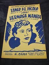 PartitionTango del picolo Hermosa Manita de José Lérica et M. Muella tangos 1956