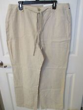 NWT - CROFT & BARROW Linen Blend ladies pants - sz 18 - MSRP $50.00 - Flax color