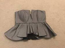 Bardot Two Piece Top & Skirt Black & White Mesh Set. Like New. Size 6