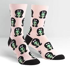 Alien but Girly. On Women's Crew Socks by Sock It To Me