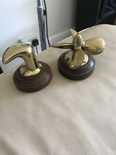 Brass Propeller And Cleat Desk Paperweights