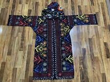 ANTIQUE Uzbek Vintage Handmade Embroidery SUZANI Robe Dress chapan jacket coat