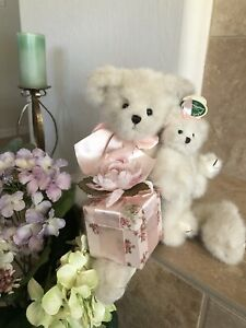 "Bearington Bears MOMMY HUGS & BABY SNUGS #1091 16"" Mommy 🐻& Baby w/Gift Box MWT"