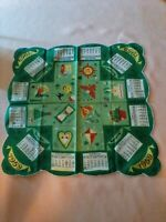 VINTAGE HANDKERCHIEF RARE FIND 1959 GREEN SEASONS CALENDER