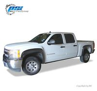 "Black Paintable OE Style Fender Flares 07-13 Silverado 1500 Short Bed 69.3"" Only"