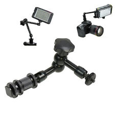 11'' Articulating Magic Arm for LCD Monitor LED Video light DSLR Camera Hot Shoe